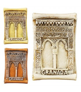 Game 3 magnet miniature door Alhambra-5 cm - Ideal fridge