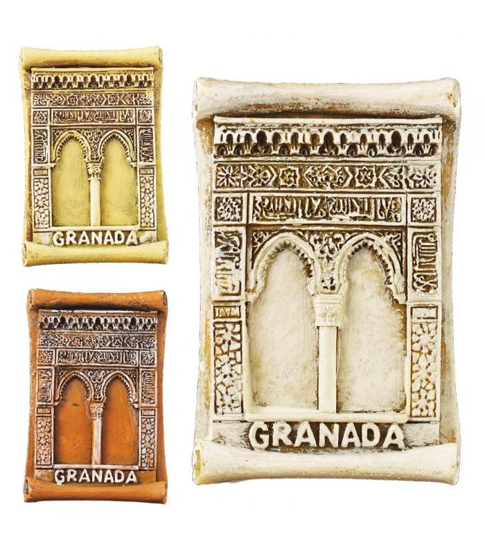 Juego 3 Imán Miniatura Puerta Alhambra- 5 cm - Ideal Nevera
