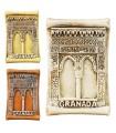 Game 3 magnet miniature door Alhambra-5 cm - Ideal fridge