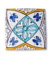 Al-Andalus - piastrelle artigianali 10cm - disegni vari - - modello 9