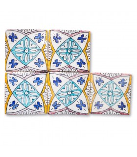 Al-Andalus - 10 cm - verschiedene Designs - handgefertigte Tile - Modell 9