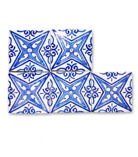 Al-Andalus - piastrelle artigianali 10cm - disegni vari - - modello 10
