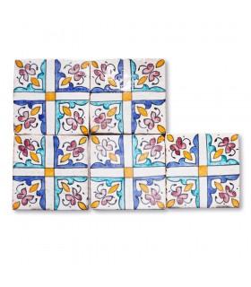 Andaluz Mini Tile - 10 cm - Vários projetos - Modelo 11