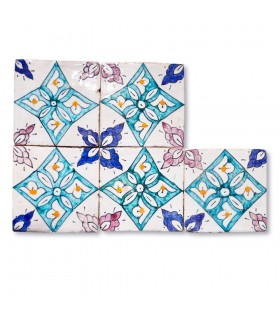 Al-Andalus - 10 cm - verschiedene Designs - handgefertigte Tile - Modell 12