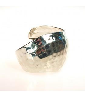 Silver Bracelet - Riveting - Wavy Design
