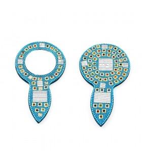 Specchio a mano con colori brillanti qualità - 14 x 7.5 cm-