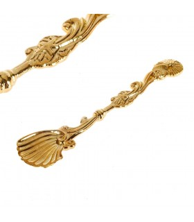 Il cast di cucchiaino di zucchero - progettazione Marino - bronzo - 10 cm