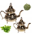 Golden Teapot Engraved - Arab Design - 4 Sizes - With / Without Paws