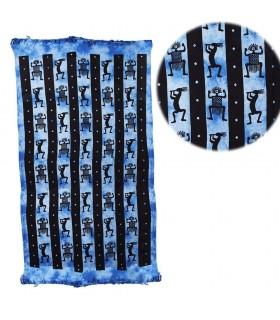 Stoff Baumwolle Indien - Stamm der Afrikaner - Handwerker-240 x 210 cm