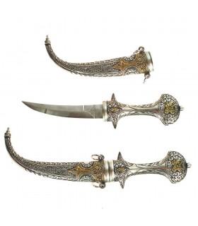 Tuareg artisan - recorded Alpaca and bronze dagger - 22 cm