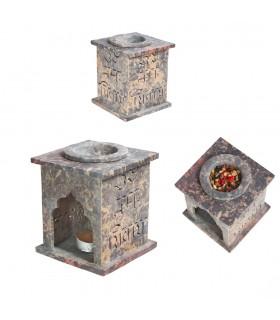 Mandala Essences Burner - sabão em pedra - 10 cm
