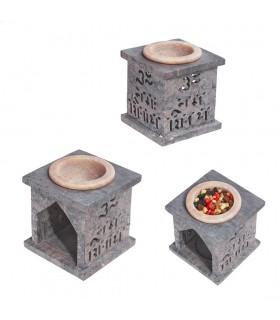 Mandala Essences Burner - sabão em pedra - 7 cm