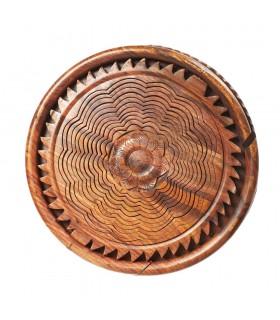 Cesta Madera Plegable - Diseño Corazón - 30 cm
