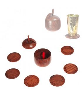 6 Untersetzer Holz - basierten Apple - 7 cm