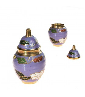 Miniatura Bombonera Bronze - Desenho Floral - 7 centímetros