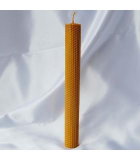 Vela cera de abelha virgem mão crafted redonda - 29 x 3 cm