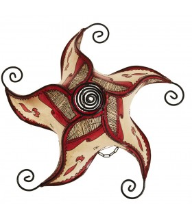 Sun spiral ceiling lamp forging - painted in Henna-45 cm-Colores