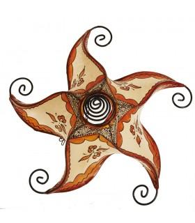 Sun Spirale Decke Lampe Schmieden - gemalt in Henna-45 cm-Colores