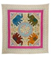 Indian Fabric Elephants-Embroidery Colors-230 x 220 - Various Colors
