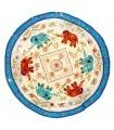Round Decorating Mat - Design Elephants - Cotton - 150 cm