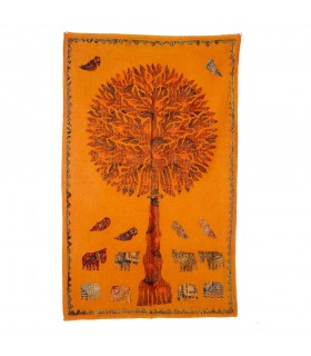 Fabric tree life - rustic - various colors - 150 x 90 cm