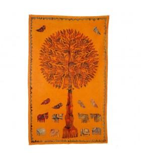 Stoff Baum Leben - Rustic - verschiedene Farben - 150 x 90 cm