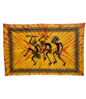 India-Cotton- Trible Warriors  -Artisan-210 x 140 cm