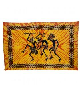Tela Algodon-India- Tribu Guerrero -Artesana-210 x 140 cm