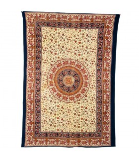 Fabric cotton Floral-Artesana India-Elefante - 140 x 210 cm