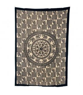 Tessuto cotone-India - elefanti mosaico Redondo-Quesería - 210x140cm