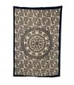 Fabric cotton-India - mosaic elephants Redondo-Artesana - 210x140cm