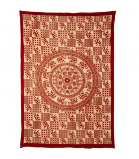 Índia-Tela Cotton- Mosaico Elefantes Suerte-Artisan-210 x 140 cm