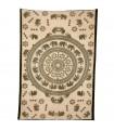 Fabric cotton-India - elephants Amor-Artesana - 210x140cm