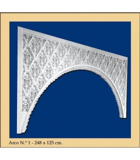Arco Nº 1 - stile andaluso - 248 x 125 cm