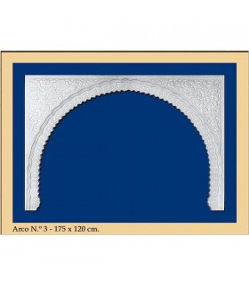 Arco design n ° 3 - andaluso - 173 x 120 cm