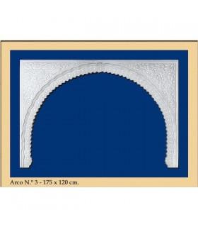 Bogen Sie Nr. 3 - andalusischen Design - 173 x 120 cm