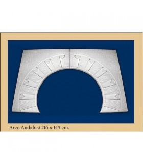 Arco design n ° 20 - andaluso - 216 x 145 cm