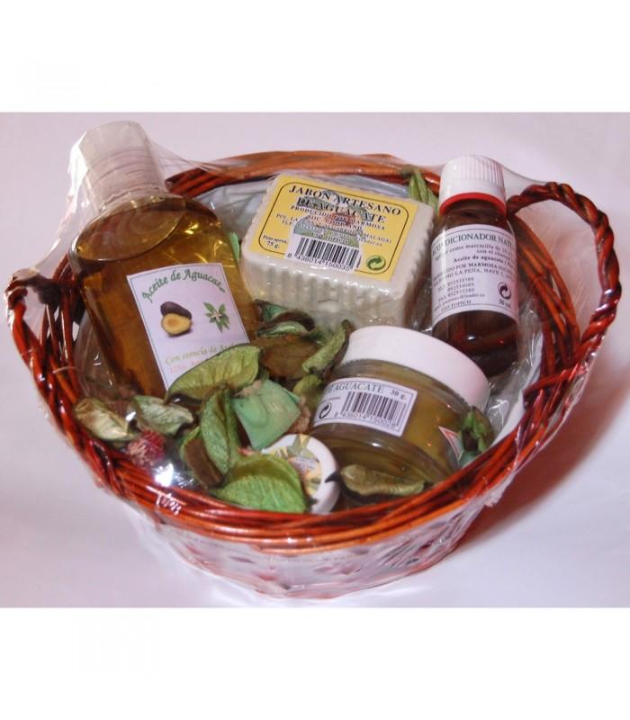Pack Cesta Aguacate (Aceites + Jabón + Crema + Protec. Labial )