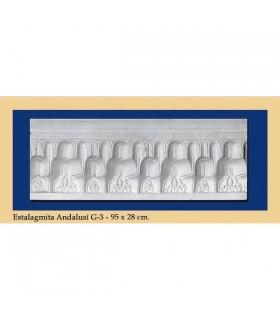 Stalagmite Andalusi - intonaco - 95 x 28 cm