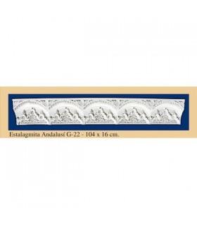 Сталагмит Andalusi - штукатурка - 104 x 16 см