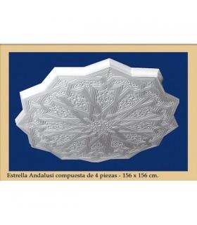 Estrella Andalusi 4 Piezas - Escayola - 156 x 156 cm