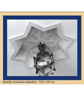 Estrela incrustada Andalusi - gesso - 110 x 110 cm