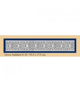 Greca Andalusi - intonaco - 93,5 x 17,5 cm