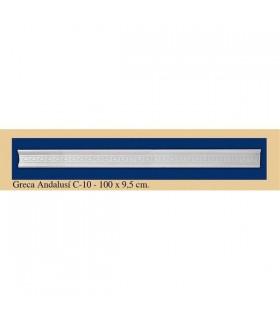 Greca Andalusi - gesso - 9,5 x 100 cm