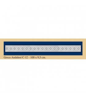 Greca Andalusi - intonaco - 100 x 9.5 cm