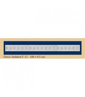 Greca Andalusi - Plaster - 100 x 9.5 cm