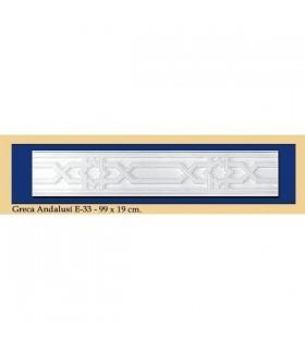 Greca Andalusi - plâtre - 99 x 19 cm