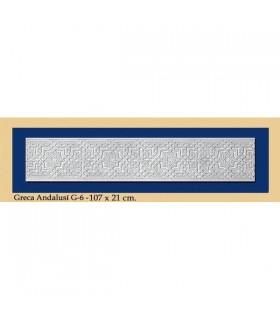 Greca Andalusi - gesso - 107 x 21 cm