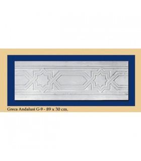 Greca Andalusi - intonaco - 89 x 30 cm