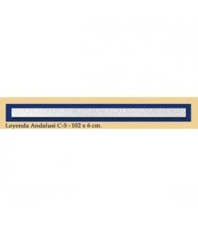 Légende Andalusi - plâtre - 102 x 6 cm
